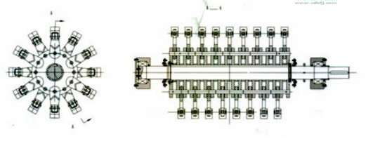 排料口间隙可调,保证出料颗粒度 4.  采用液压开启装置,易维修维护图片
